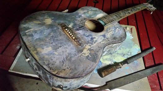 acoustic guitar art